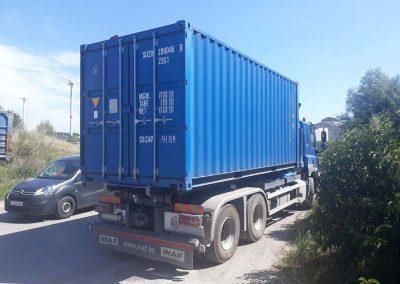 Meubelopslag container huren